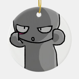 Little Gray Baby wry face Ornament