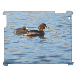 Little Grebe and Chick Case For The iPad