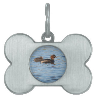 Little Grebe and Chick Pet ID Tag
