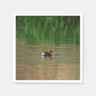 Little grebe duck in breeding plumage disposable serviettes