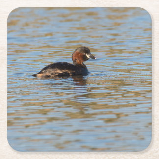Little Grebe Square Paper Coaster