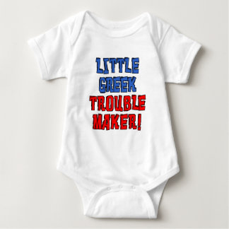 Little Greek Trouble Maker Baby Bodysuit
