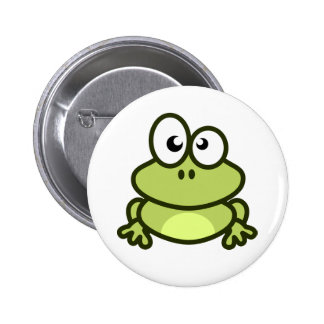 little green frog button for backpack