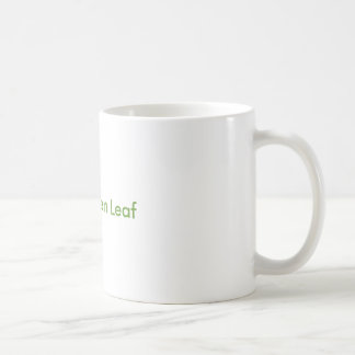 Little green leaf coffee mug