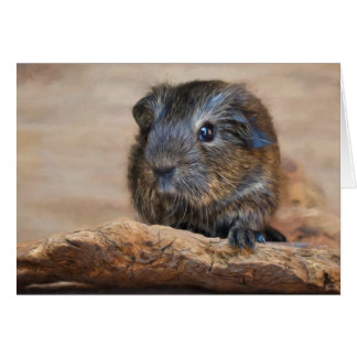 Little Guinea Pig Painting Card