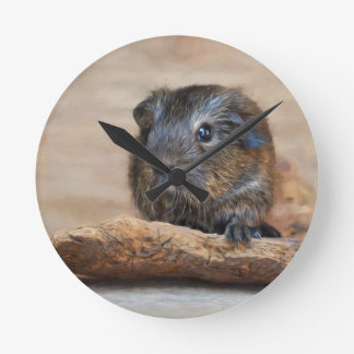 Little Guinea Pig Painting Wall Clock