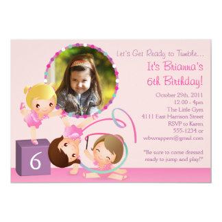 Little Gymnasts - Gymnastics Birthday Invitation