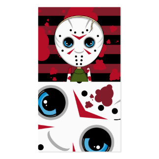 LIttle Halloween Serial Killer Bookmark Pack Of Standard Business Cards