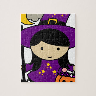 Little Halloween Witch Jigsaw Puzzle