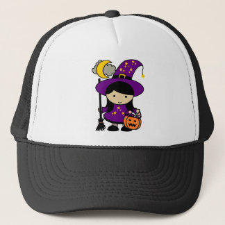 Little Halloween Witch Trucker Hat