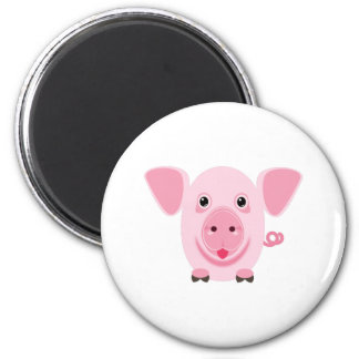 Little happy cute pink pig magnet