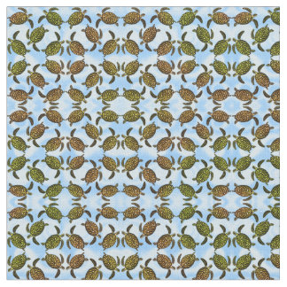 Little Hawksbill Sea Turtles Fabric