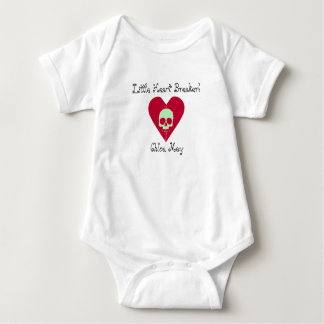 Little Heart Breaker Add Name One piece Baby Bodysuit