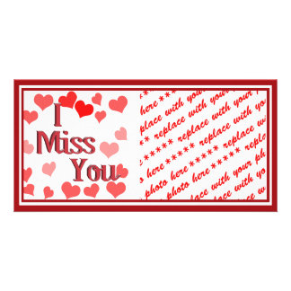 Little Hearts -  I Miss You Custom Photo Card