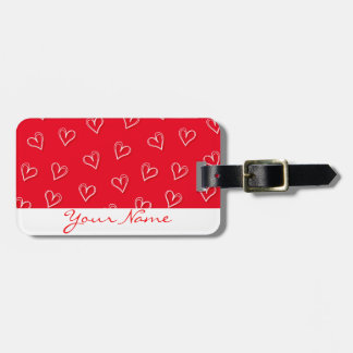 Little hearts luggage tag