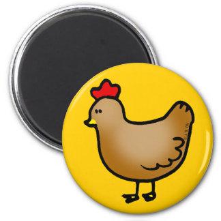 Little hen 6 cm round magnet