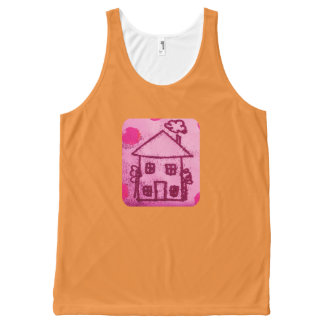 Little house All-Over print singlet