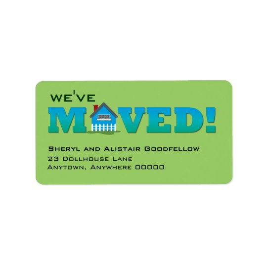Little House Moving Announcement Label