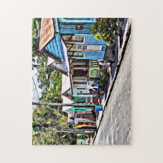 Little houses in Ste-Lucia Jigsaw Puzzle