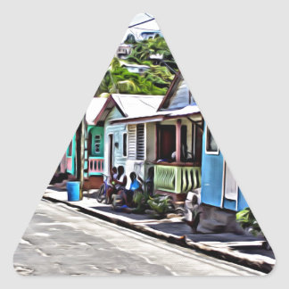 Little houses in Ste-Lucia Triangle Sticker