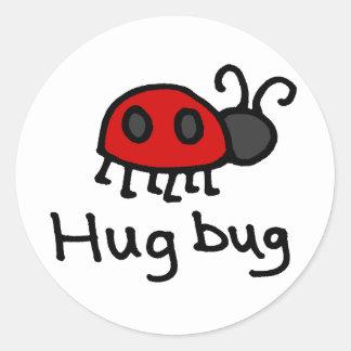 Little Hug Bug Round Sticker