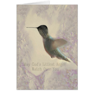 Little Hummingbird Angel Blank Greeting Card
