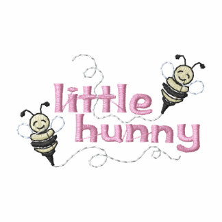 Little Hunny Embroidered Hooded Sweatshirt