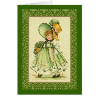 Little Irish Girl Greeting Card