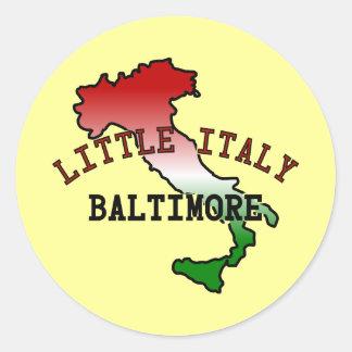 Little Italy Baltimore Classic Round Sticker