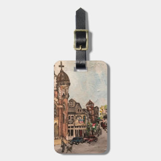 Little Italy, Cleveland Painting Luggage Tag