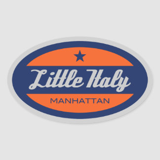 Little Italy Oval Sticker