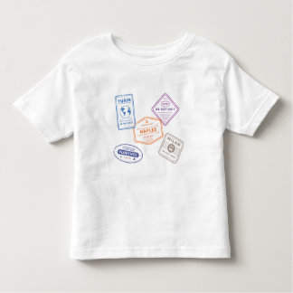 Little ITALY Travel Passport Stamps Toddler T-Shirt