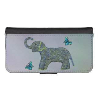 Little Jade Elephant iPhone SE/5/5s Wallet Case