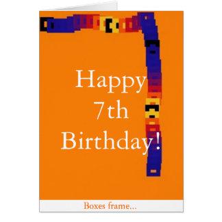 Little Kid's 7th Birthday Card