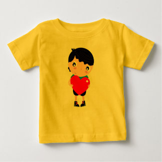 Little kids t-shirt with Emo boy holding heart
