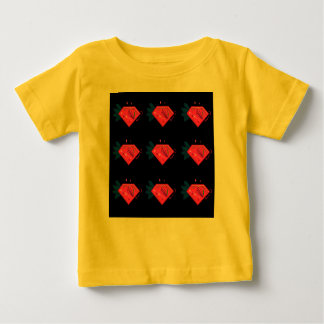 Little Kids tshirt with Diamonds Yellow