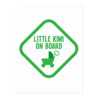 Little KIWI on Board New Zealand Postcard