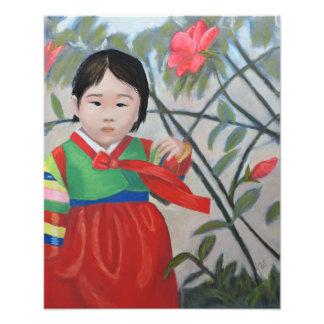 Little Korean Girl Print Photo