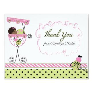 Little Lady Ladybug Theme Thank You Card 11 Cm X 14 Cm Invitation Card