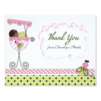 "Little Lady Ladybug Theme Thank You Card 4.25"" X 5.5"" Invitation Card"