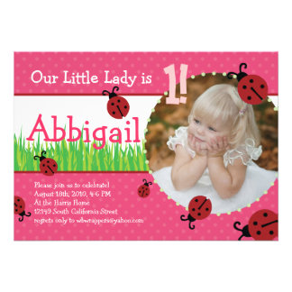 Little Lady s Birthday - Ladybugs Announcements