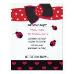 Little Ladybug Birthday Invitation 11 Cm X 14 Cm Invitation Card