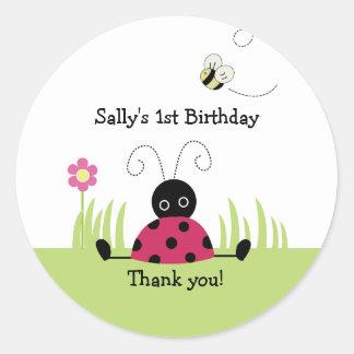 Little Ladybug Favour Sticker Baby Shower Birthday