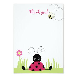 Little Ladybug Flat Thank you note cards
