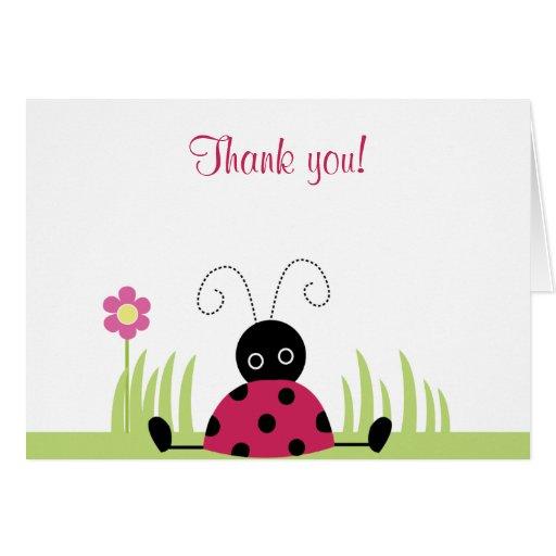 Little Ladybug Folded Thank you notes Card