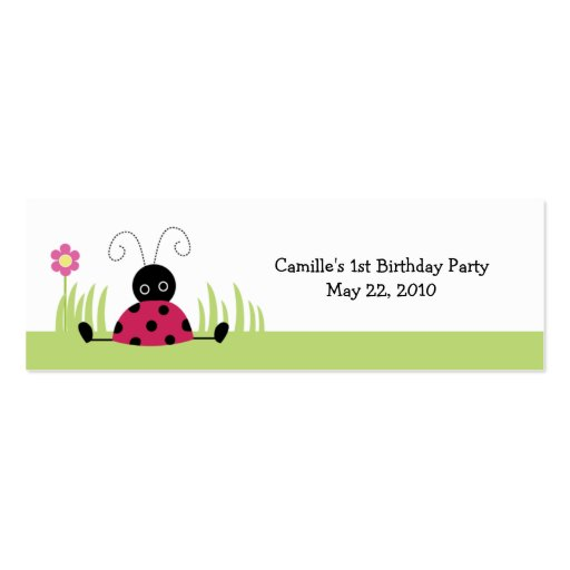 Little Ladybug Personalized favor tags Business Card Templates