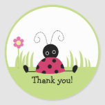 Little Ladybug Thank you Favour Stickers
