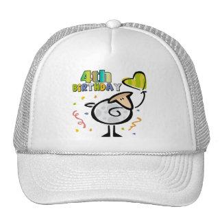 Little Lamb 4th Birthday Gifts Cap