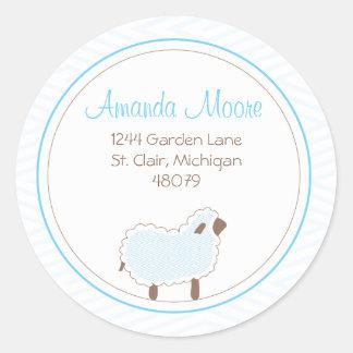 Little Lamb Address Label Classic Round Sticker