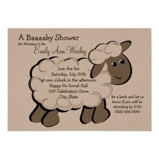 Little Lamb Baby Shower 13 Cm X 18 Cm Invitation Card